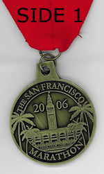 SF Progressive Marathon Finisher's Medal Side 1