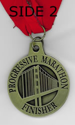SF Progressive Marathon Finisher's Medal Side 2